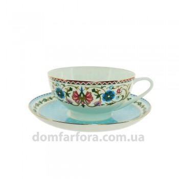 Чашка с блюдцем форма Купольная рисунок Восточная вязь