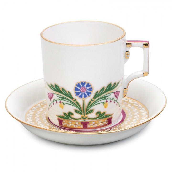 Чашка с блюдцем чайная форма Гербовая рисунок Замоскворечье