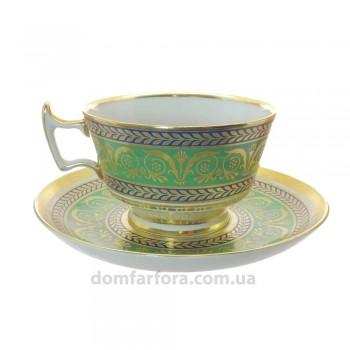 Чашка с блюдцем форма Александрия рисунок Золотой