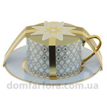 Чашка с блюдцем чайная форма Идиллия рисунок Азур 1