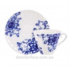 Чашка с блюдцем форма Лучистая рисунок Гарден (AURORA)