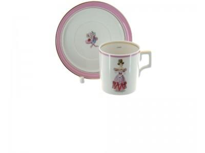 Чашка с блюдцем в подарок на 8 марта