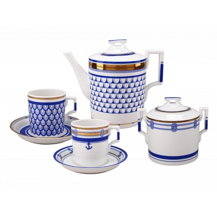 Сервиз чайный форма Гербовая рисунок Белое море 6 персон 20 предметов
