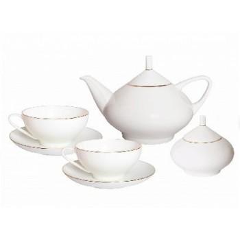 Сервиз чайный Купольная Золотая лента