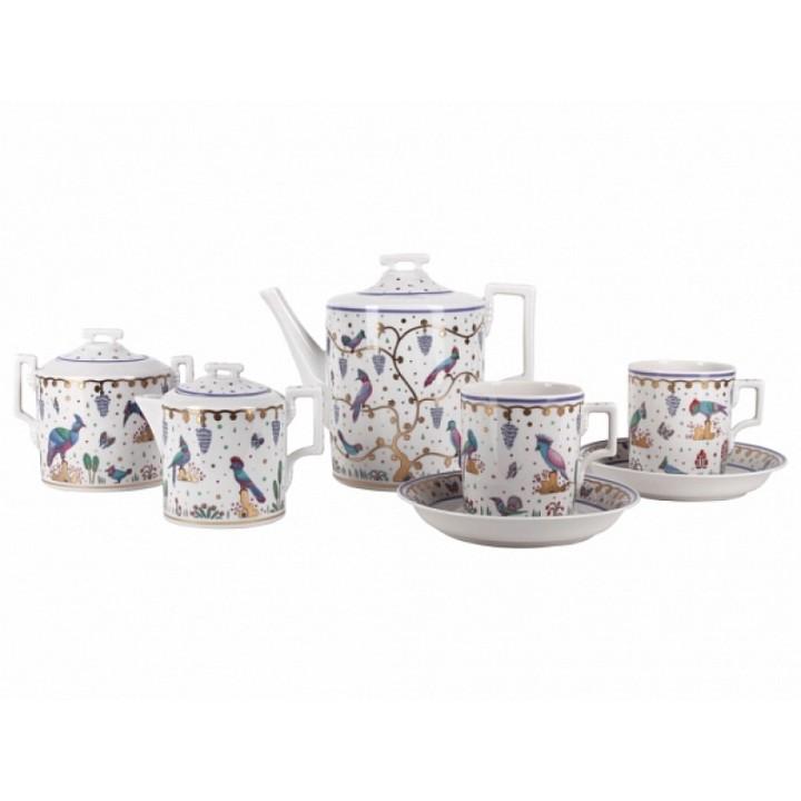 Сервиз чайный форма Гербовая рисунок Нескучный сад 6 персон 15 предметов