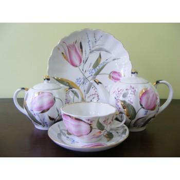 Сервиз чайный Тюльпан Розовые Тюльпаны