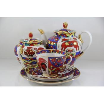 Сервиз чайный Весенняя Народные узоры