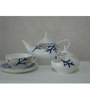 Сервиз чайный форма Купольная рисунок Синий узор 6 персон 14 предметов
