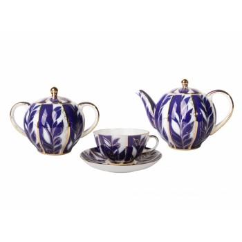 Сервиз чайный форма Тюльпан рисунок Зимний вечер 6 персон 14 предметов