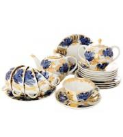 Сервиз чайный форма Тюльпан рисунок Золотой сад 6 персон 20 предметов