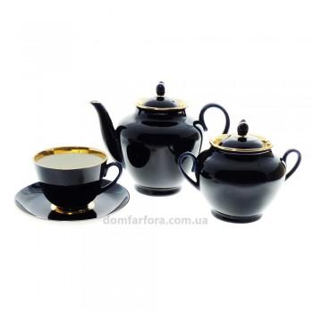 Сервиз чайный форма Весенняя рисунок Ночь 6 персон 14 предметов