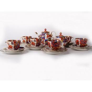 Сервиз чайный форма Весенняя рисунок Народные узоры 6 персон 20 предметов