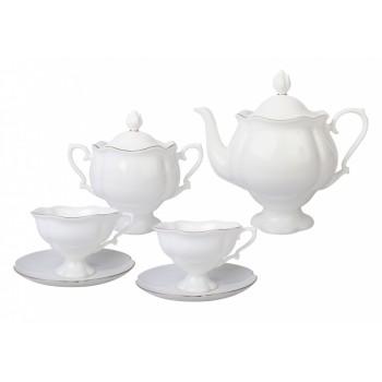 Сервиз чайный форма Наташа рисунок Золотая лента 6 персон 20 предметов