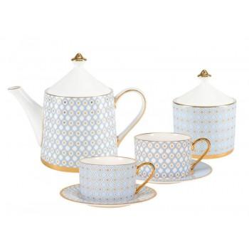 Сервиз чайный форма Идиллия рисунок Азур 4 персоны 10 предметов