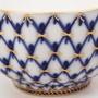 Чашка с блюдцем форма Тюльпан рисунок Кобальтовая сетка
