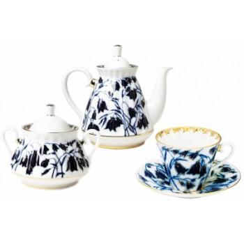Сервиз чайный форма Лучистая рисунок Колокольчики 14 предметов на 6 персон