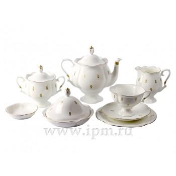 Сервиз чайный форма Наташа рисунок Петельки 6 персон 20 предметов
