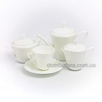 Сервиз чайный форма Сад рисунок Белый 6 персон 14 предметов