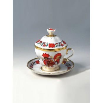 Чашка с блюдцем и крышкой чайная Подарочная-2 Сувенир