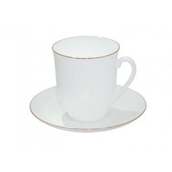 Чашка с блюдцем чайная Росинка Золотой кантик
