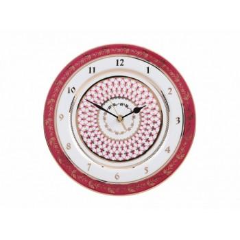 Часы  декоративный 270 мм форма «Европейская 2» рисунок «Сетка-Блюз»