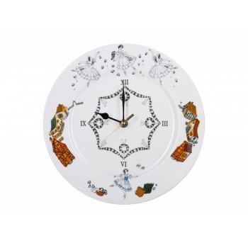 Часы декоративные 270 мм форма «Европейская 2» рисунок «Жизель»