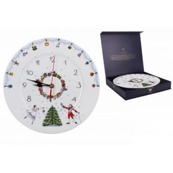 Часы декоративные 270 мм форма «Европейская 2» рисунок «Щелкунчик»