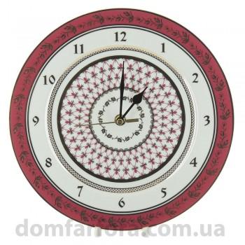 Часы  декоративный 270 мм форма Европейская 2 рисунок Сетка-Блюз