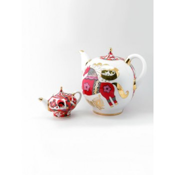 Комплект чайников Новгородский Красный конь