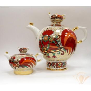 Чайник доливной Семейный Красный петух
