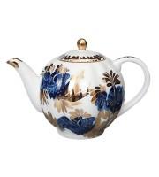 Чайник заварочный форма Тюльпан рисунок Золотой сад