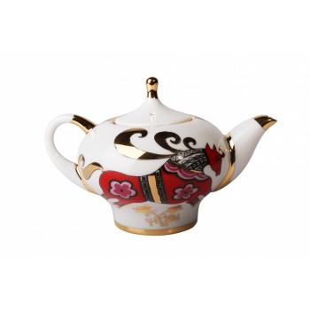Чайник заварочный форма Новгородский рисунок Красный конь