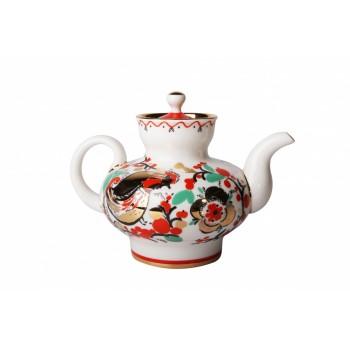 Чайник заварочный форма Малыш рисунок Петушки