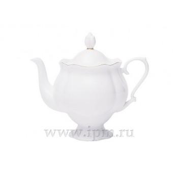 Чайник заварочный форма Наташа рисунок Золотая лента