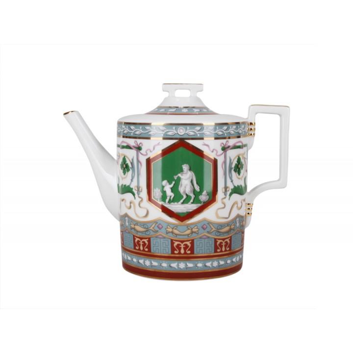 Чайник заварочный форма Гербовая рисунок Античный