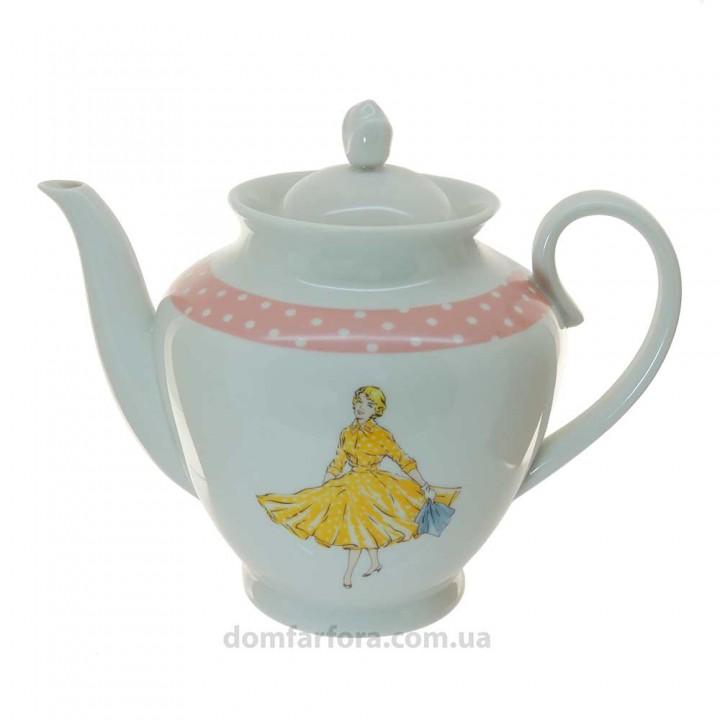 Чайник заварочный форма Весенняя рисунок Оттепель