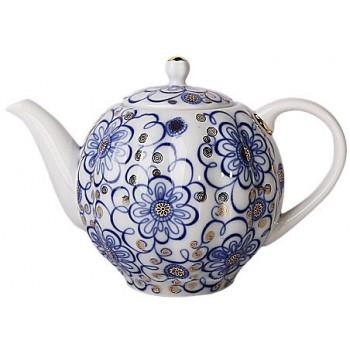 Чайник доливной  форма Тюльпан  рисунок Вьюнок