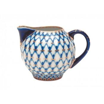 Сливочник форма Тюльпан рисунок Кобальтовая сетка