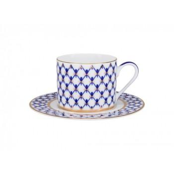 Чашка с блюдцем 220мл форма Соло рисунок Кобальтовая сетка