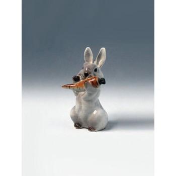 """Скульптура """"Заяц с морковкой"""" №2"""