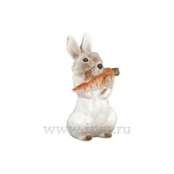 """Скульптура """"Заяц с морковкой"""" №1"""