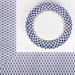 Текстиль с рисунком кобальтовая сетка