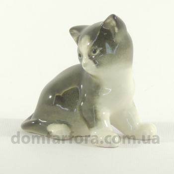 Скульптура Котенок Парамоша Серый