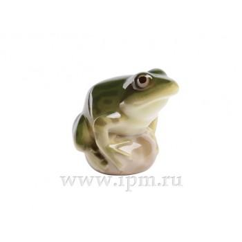 Скульптура Лягушка прудовая Зеленая