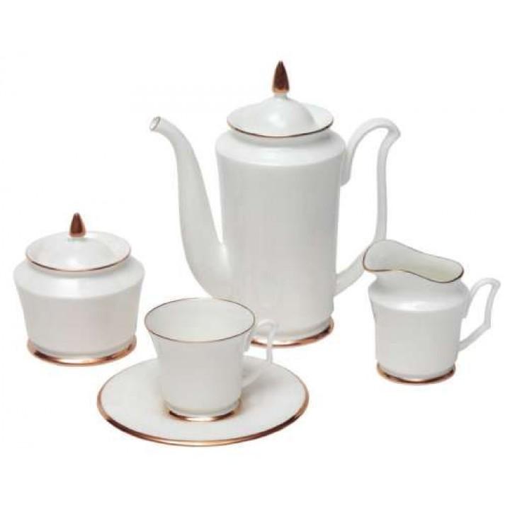 Сервиз кофейный форма Юлия рисунок Золотая лента 6 персон 15 предметов