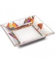 Подставка для мелочи и украшений рисунок Осенний листопад 16,5*16,5