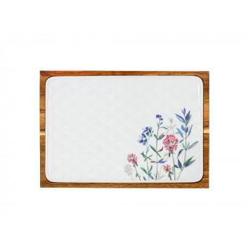 Доска сырная форма стандартная рисунок Травы (в упаковке)