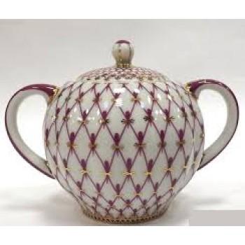 Сахарница форма Тюльпан рисунок Сетка-блюз