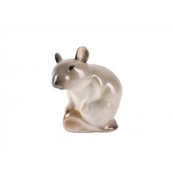 Скульптура Мышь с орехом Палевая