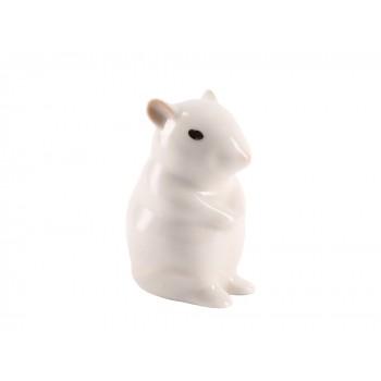 Скульптура Мышь-малютка Альбинос